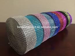 8 rows rhinestone mesh ribbon buy mesh