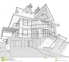 blueprints house house architecture blueprint stock vector illustration of