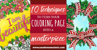 10 techniques to turn your coloring page into a masterpiece