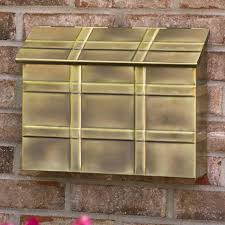 Bronze Wall Mount Mailbox How To Install A Wall Mount Brass Mailboxes When The Holes Do Not