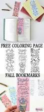 free printable fall coloring page bookmarks dawn nicole designs