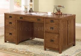 Classic Office Desk Wood Finish Classic Office Desk W Antiqued Finish Hardware
