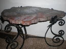 petrified wood table round u2014 home design ideas ever heard talk