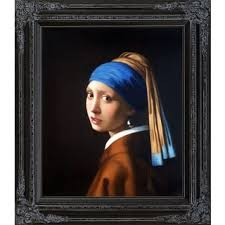 girl with pearl earring painting vermeer girl with a pearl earring framed canvas free shipping