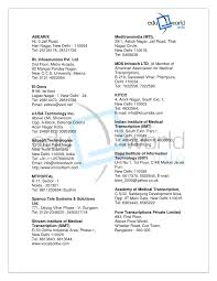 Medical Transcriptionist Resume Sample by Respiratory Therapy Section Materials