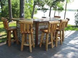 Tall Deck Chairs And Table by Furniture Gorgeous Outdoor Living Space Decoration Using Solid