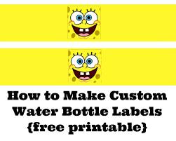 spongebob birthday party goodie box bag printable template diy