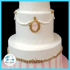Vintage Bridal Shower Vintage Cameo Bridal Shower Cake Nj Blue Sheep Bake Shop
