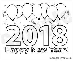 happy new year preschool coloring pages happy new year coloring page in new years eve coloring pages