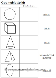 worksheets for geometric solids black line masters for 12