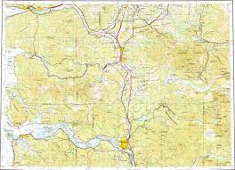 Oregon Topographic Map by Download Topographic Map In Area Of Longview Kelso Astoria