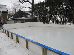 backyard hockey rink boards home design