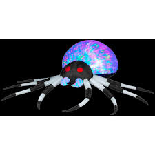 Gemmy Spider Outdoor Halloween Decorations by Gemmy 2 6 Ft Inflatable Projection Kaleidoscope Spider 55295x