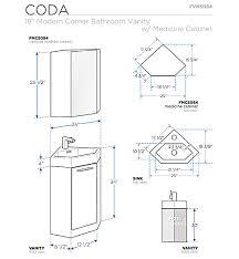18 u201d fresca coda fvn5084wh white modern corner bathroom vanity w