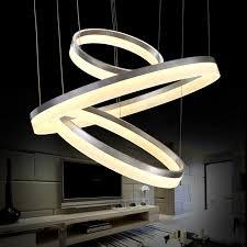 leuchten schlafzimmer 40 60 80 cm 3 ringe deckenleuchte moderne für wohnzimmer