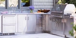 kitchen outdoor kitchen cabinets stenlis steel outdoor kitchen