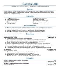 manager resume summary human resources resume summary free resume example and writing create my resume