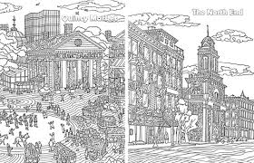 behold this new boston themed coloring book
