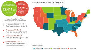 map us gas prices gas prices rise easter week