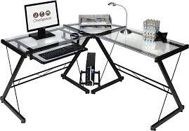 black glass corner desk desks walker edison d51z29 instructions walker edison btspld46bl