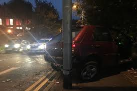 police chase in folkestone ended in a dramatic crash and two