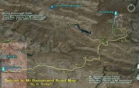 Tehran Map Damavand Maps Damawand De