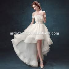 wedding dress pendek 2017 menjual panas gaya perancis lace covered depan pendek panjang