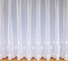 trailing leaf design net voile curtains white choose drop sizes