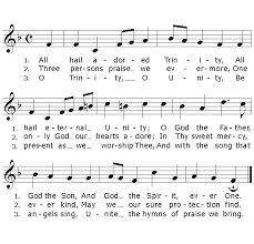 traditional catholic hymn lyrics all hail adored