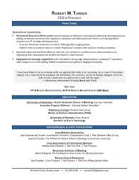 Sample Resume For Banking Operations by Award Winning Ceo Sample Resume Ceo Resume Writer Executive