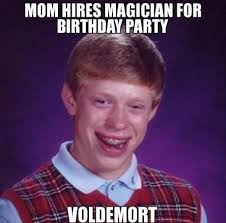 Magician Meme - harry potter birthday meme magician for birthday party bad luck