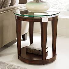 Hammary Sofa Table by Hammary Solitaire Round Accent Table Rich Dark Brown Hayneedle