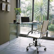 Modern Glass Office Desks Furniture Great Modern Glass Office Desk Design With Sliding