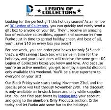 best black friday deals going on today dc legion of collectors black friday sale hello subscription