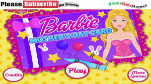 barbie making mothers day card and room decoration play free