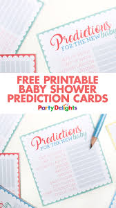 baby shower guessing free printable baby shower prediction cards baby shower