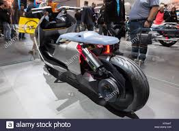 bmw bike concept exhibition international motorcycle exhibition stock photos