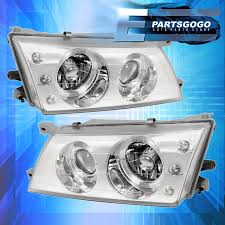 nissan sentra yellow exclamation point for 95 98 nissan sentra 200sx 3 led chrome housing projector dual