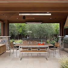 Outdoor Kitchen Furniture - gray outdoor chairs with blue pillows transitional deck patio