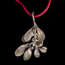 mistletoe ornament michael michaud table