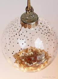 39 ways to decorate a glass ornament gold dots ornament and