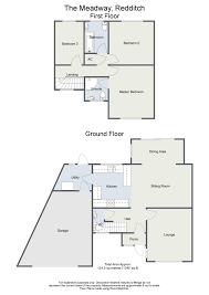 Floor Plan To Scale by Three Bedroom Semi Detached House The Meadway Redditch B97 5af
