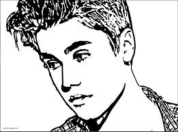 justin bieber coloring pages wecoloringpage