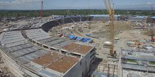 new drone footage of apple campus business insider