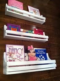 childrens bookshelf set of 3 white hanging book shelves 130 00