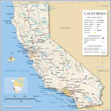 usa california map reference map of california usa nations project at physical