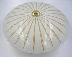 Vintage Sputnik Light Fixture Mid Century Modern Atomic Starburst Glass Light Fixture Mcm 50 S