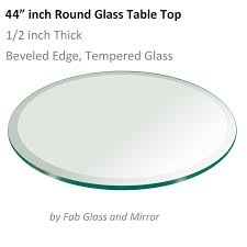 glass table top 44 inch round 1 2 inch thick beveled temper