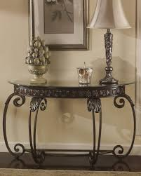 Ashley Sofa Table by T399 4 Signature By Ashley Tullio Sofa Table Brown Cherry Finish