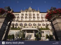 italy piedmont lake maggiore stresa grand hotel des iles stock